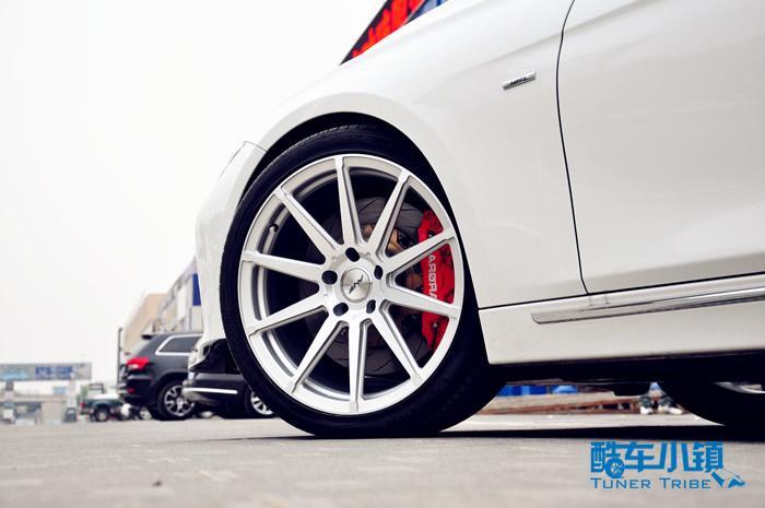 迪克萨银色amf轮毂改装宝马3系
